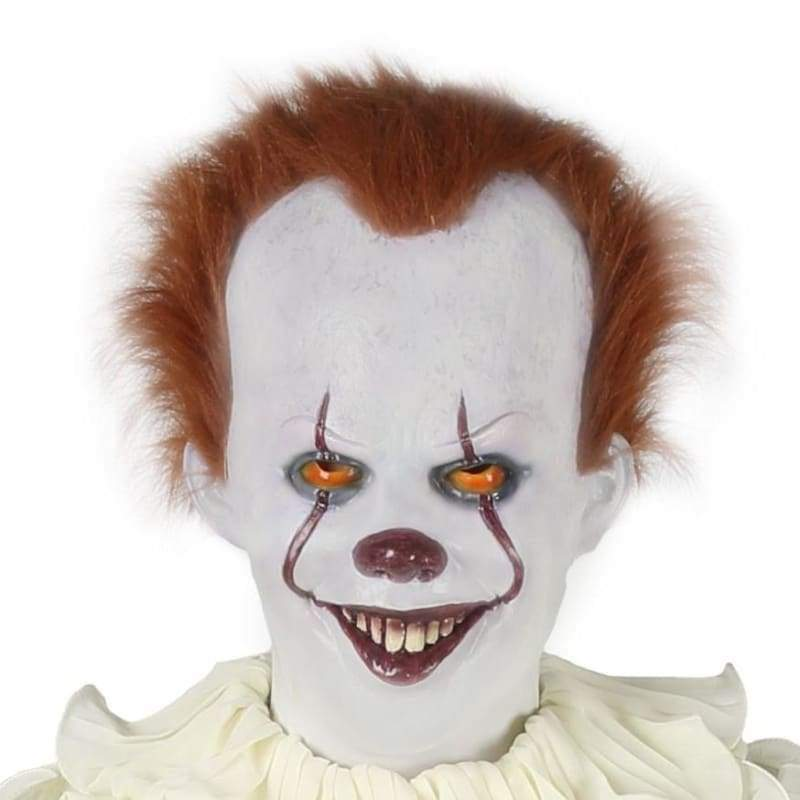 XCOSER Pennywise IT Clown 2017 Real Life Mask Stephen King's Fancy Costume Halloween???¡ìOnly For the United States???