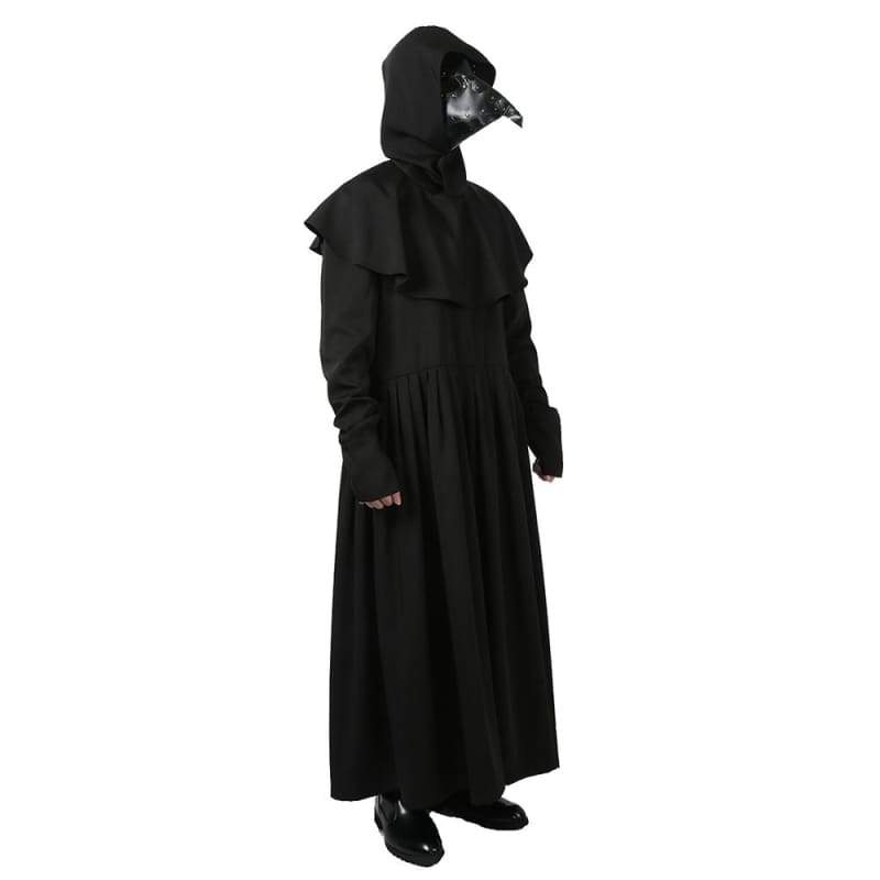 xcoser-de,Xcoser Plague Doctor Dark Black Cosplay Halloween Costume,Costumes