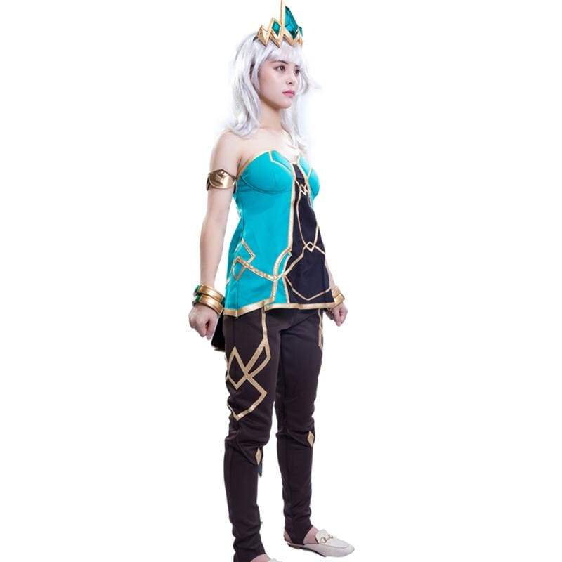 xcoser-de,Xcoser Qiyana S9 League of Legends Game Cosplay Costume Halloween Outfit for Women,Costumes