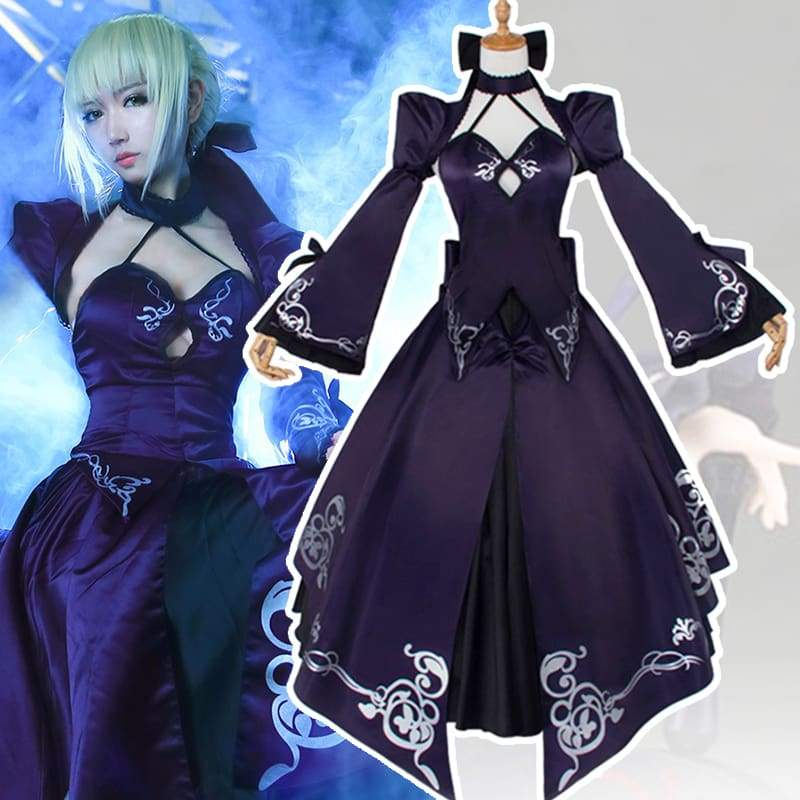 xcoser-de,Xcoser Saber Alter Fate Stay Night Full Set Cosplay Costume,Costumes