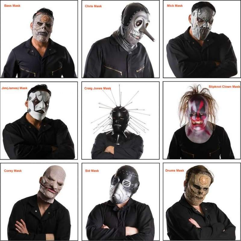 xcoser-de,Xcoser Slipknot Mask Latex Halloween Cosplay Costume Accessory For Adults,Mask
