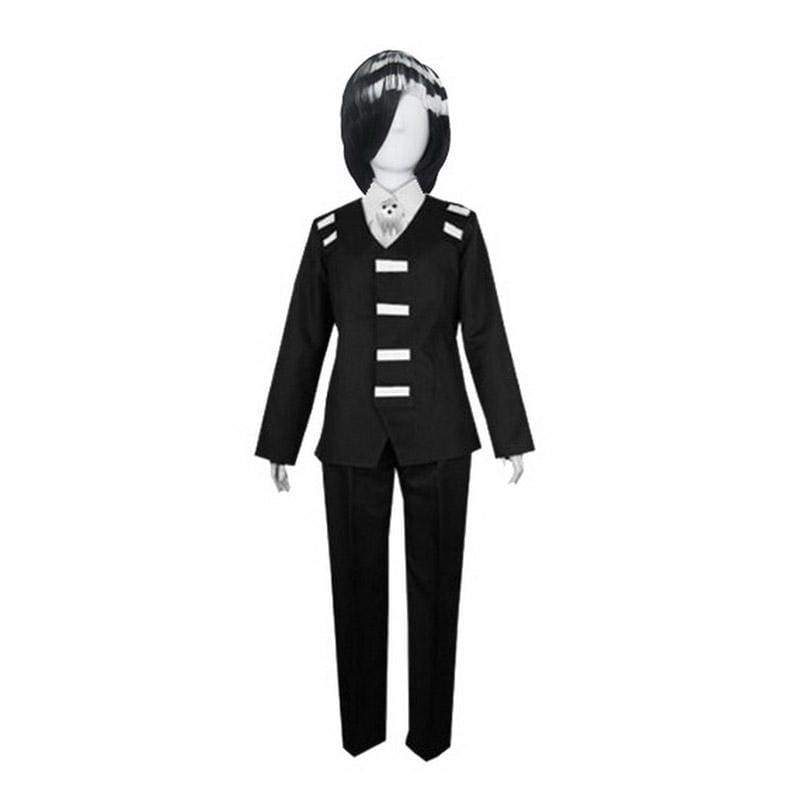 xcoser-de,Xcoser Soul Eater Costume Death The Kid Cosplay Black Suit,Costumes