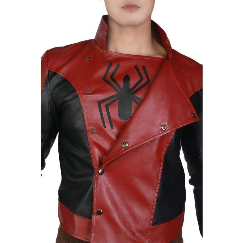 xcoser-de,XCOSER Spider Man Cosplay Red PU Jacket,Jackets