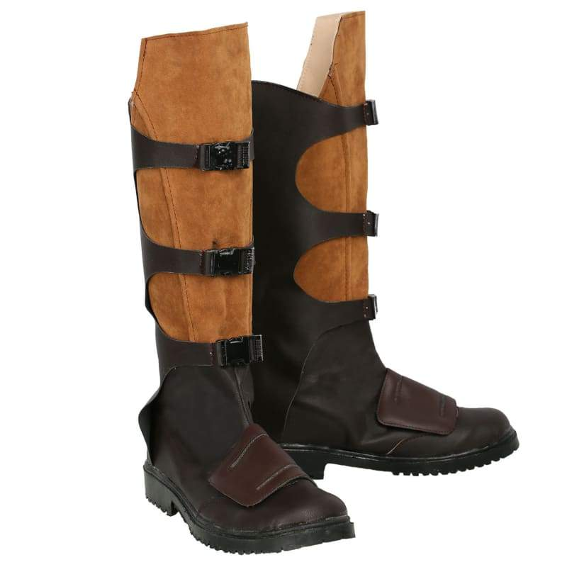 xcoser-de,Xcoser Star-Lord Boots Dark Brown & Light Brown Authentic Leather Boots,Boots