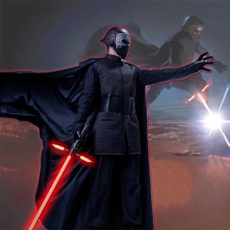 xcoser-de,Xcoser ® Cosplay The Walt Disney Company Films Star Wars IX :The Rise of Skywalker Kylo Ren  Kostüm Komplette für Herren,Kostüm