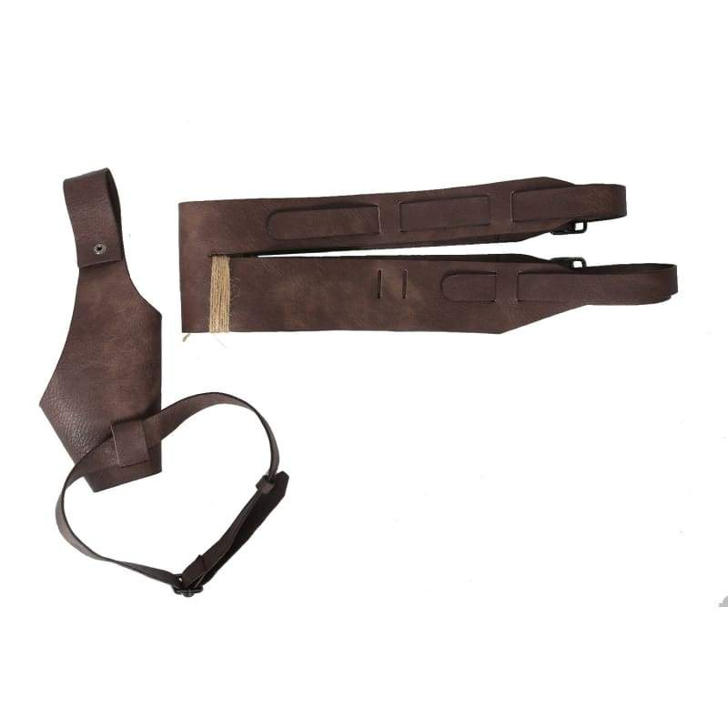 xcoser-de,Xcoser Star Wars Episode VIII: The Last Jedi Rey braun PU Gürtel & Holster Leder Cosplay Requisiten,Accessories