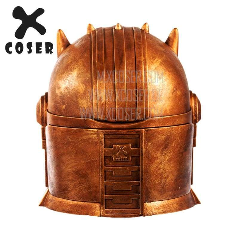 Xcoser Star Wars Mandalorian Blacksmith the Armorer Cosplay Helmet 1:1 Replica Resin/latex Presale - 6