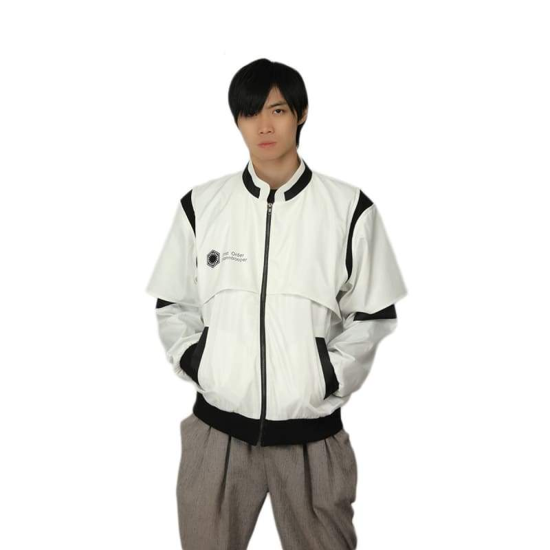 xcoser-de - XCOSER Star Wars Stormtrooper Jacket White Creative Zip Hoodie - Hoodies