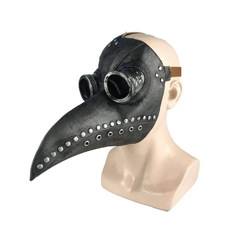 Xcoser Steampunk Plague Doctor Mask Black Latex Cosplay Mask
