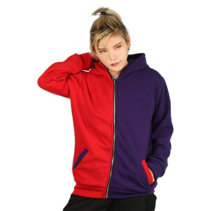 xcoser-de,Xcoser Suicide Squad Cotton Zip Up Hoodie Harley Quinn Cosplay Costume in Embroidered Style,Hoodies