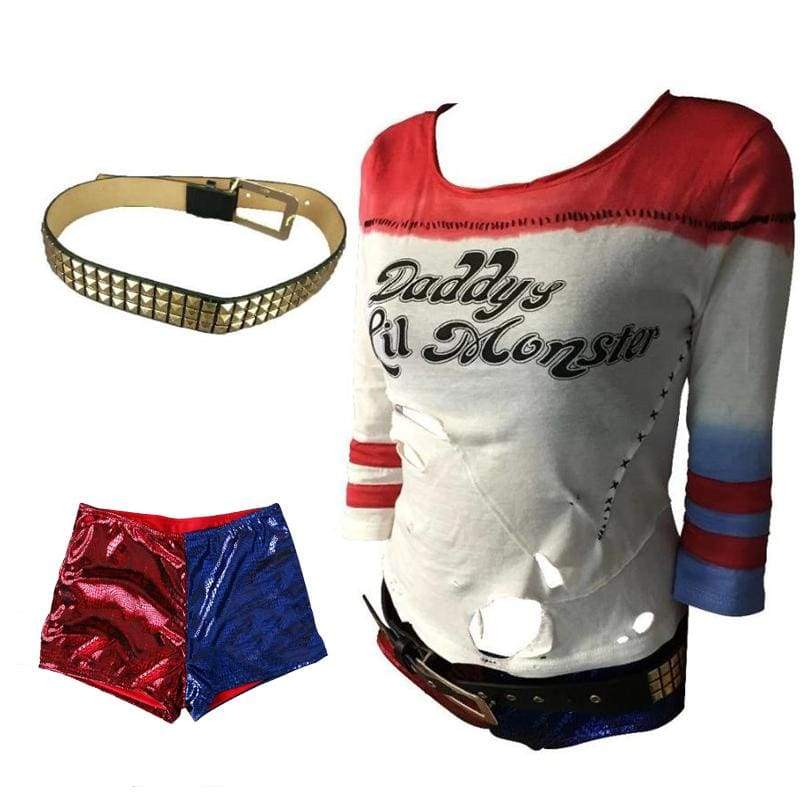 Xcoser Suicide Squad Harley Quinn Sexy Cosplay Costume