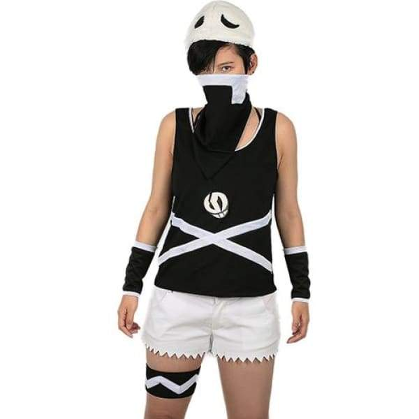 xcoser-de,Xcoser Team Skull Female Grunts Costume Pokemon Sun and Moon Cosplay Costume Woman's Size,Costumes