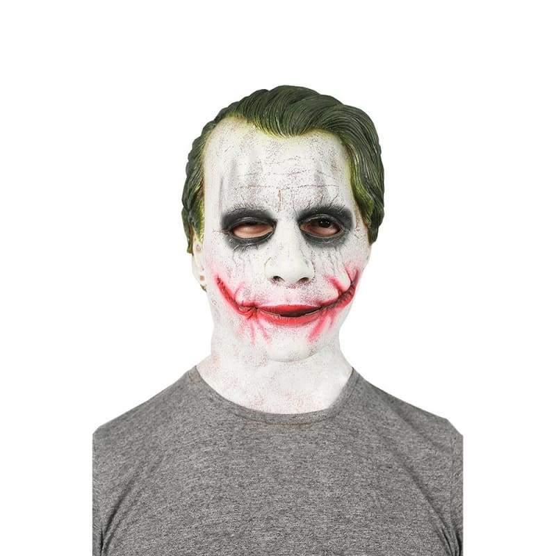xcoser-de,Joker Cosplay Maske The Dark Knight Latex Vollkopf Maske,Maske