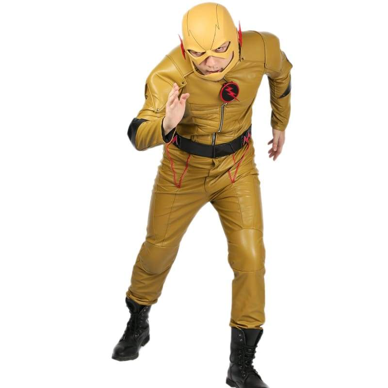 xcoser-de,Xcoser The Flash Reverse Flash Cosplay Costume,Costumes