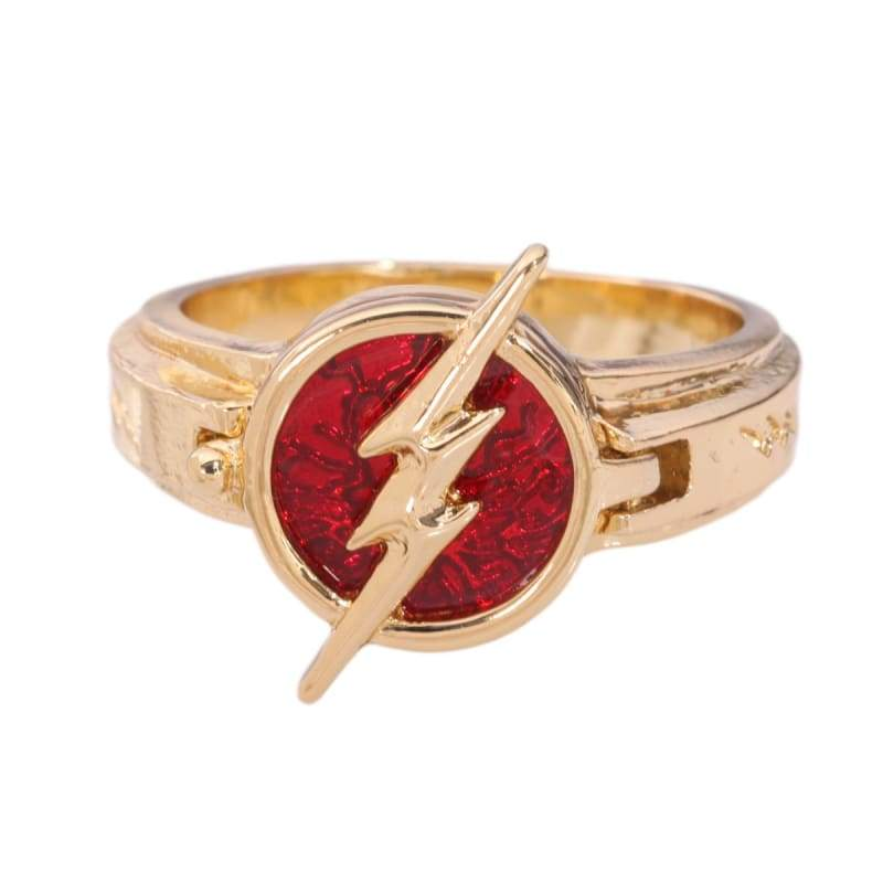 xcoser-de,XCOSER The Flash Season 5 Flash New Ring Gloden with Red Ring,Jewelry