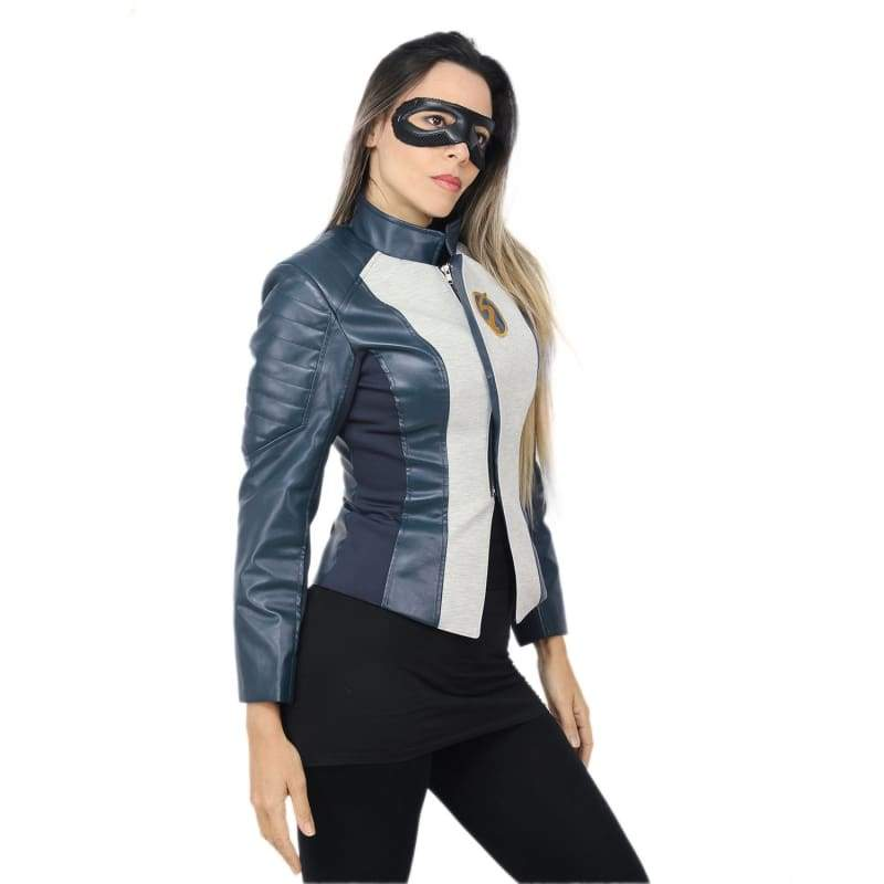 xcoser-de,XCOSER The Flash Season 5 Nora West-Allen Jacket + Eye Mask,Jackets