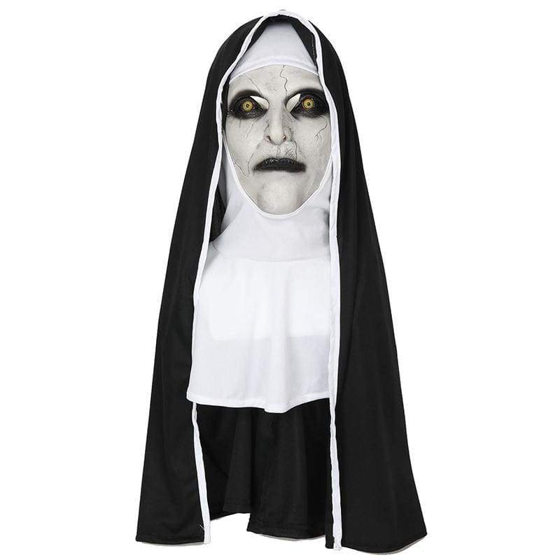 xcoser-de,XCOSER The Nun Cosplay Valak The Nun Full Head Mask & Hood Only For the United State,Mask