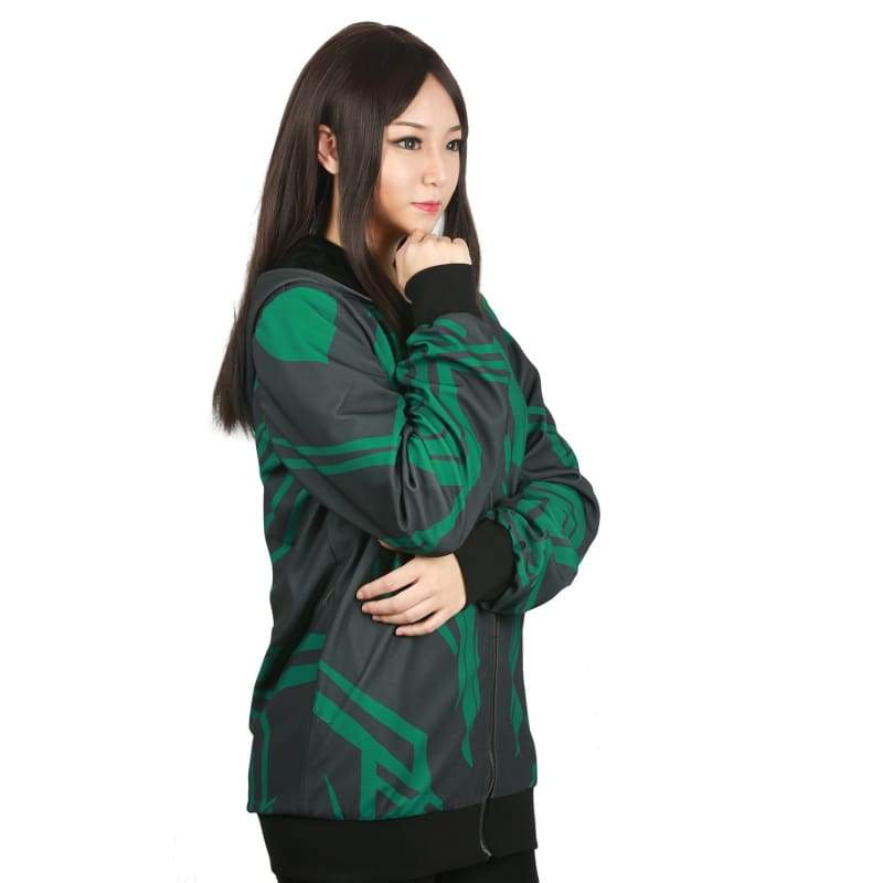 xcoser-de,Xcoser Thor: Ragnarök Movie Cosplay Hela Zip-Up Hoodie Costume,Hoodies