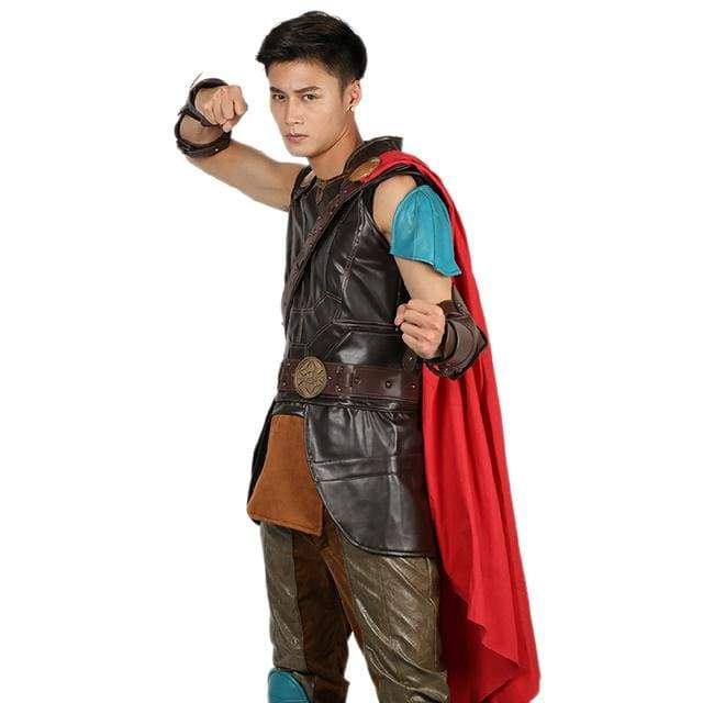 xcoser-de,Xcoser Thor: Ragnarok Thor PU Leather Sleeveless Cosplay Costume,Costumes
