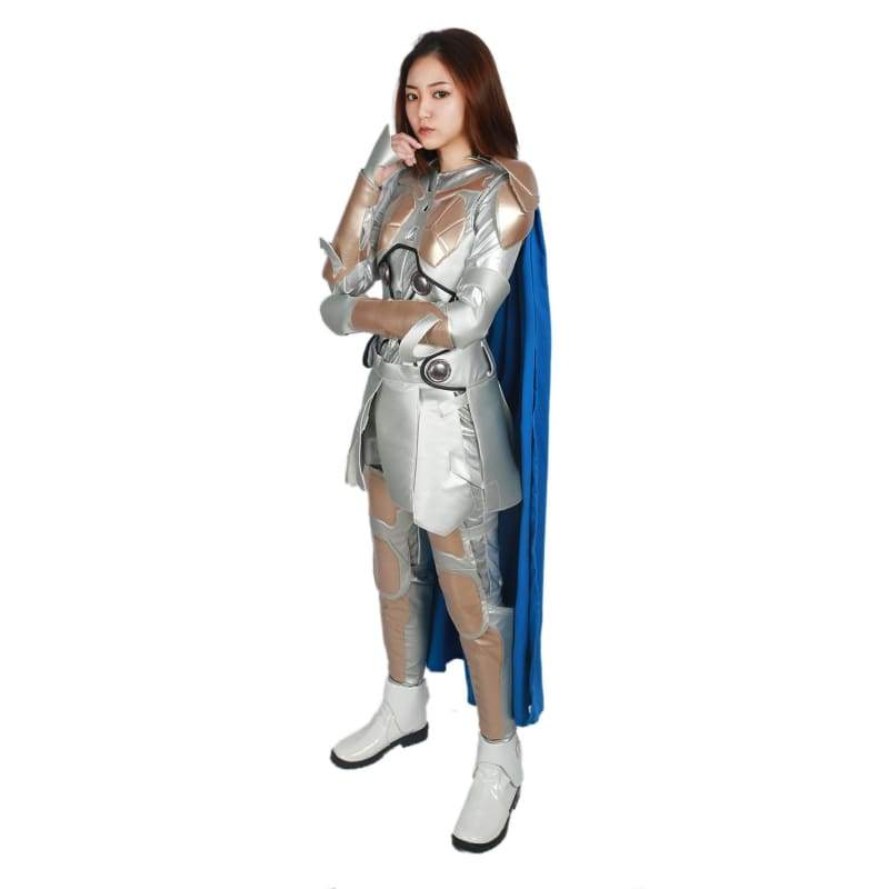 xcoser-de,Xcoser Thor: Ragnarök Superwoman Cosplay Valkyrie Royal Blue Full Set of Battle Outfit Costume,Costumes
