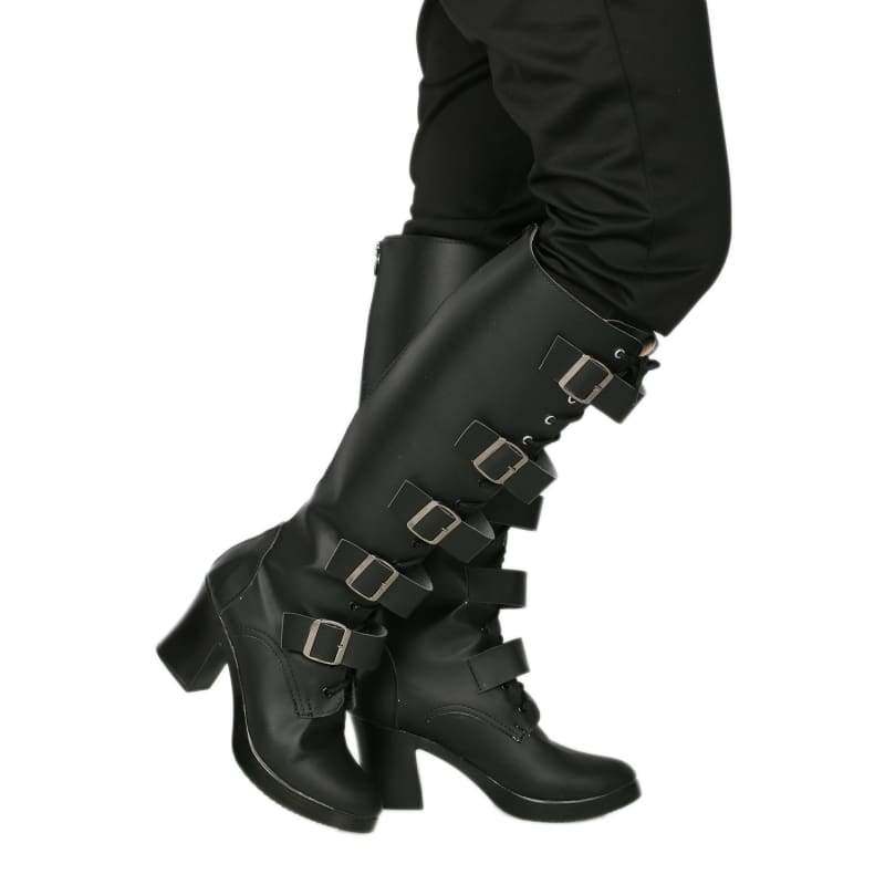 xcoser-de,Xcoser Underworld Selene Boots Deluxe Black PU Knee-high Boots Selene Cosplay Shoes,Boots