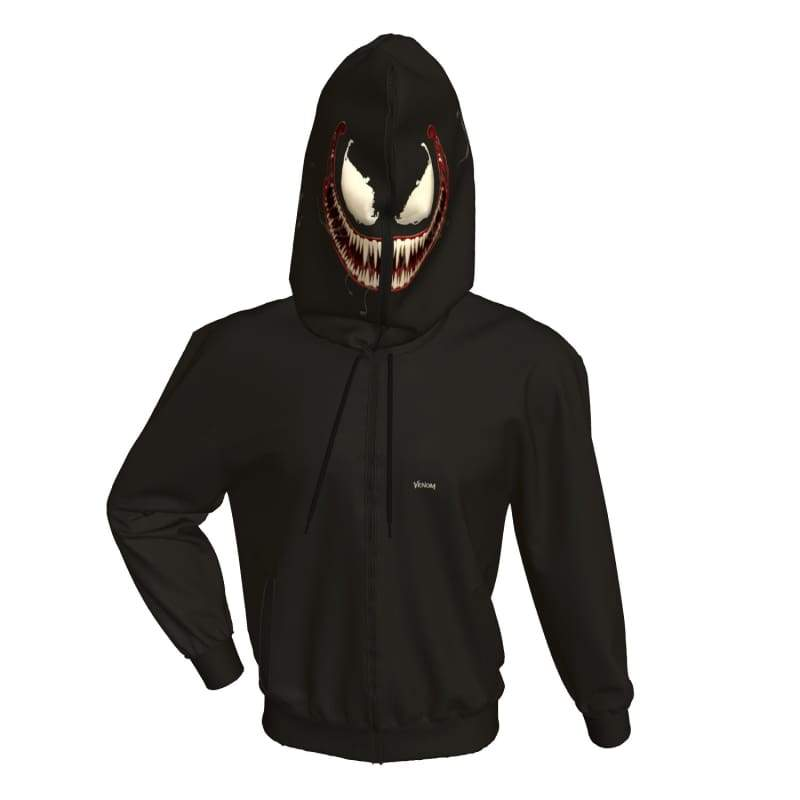 XCOSER Venom Hoodie Creative clothing Black Cotton - xcoser-de