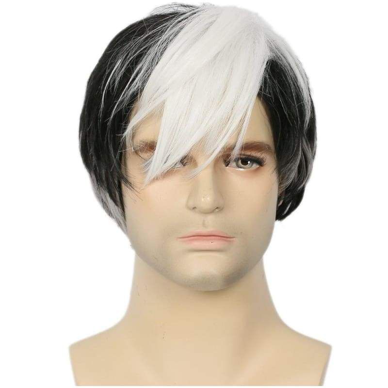 xcoser-de,Xcoser Voltron: Legendary Defender Shiro Black Wig Cosplay Accessories,Wigs