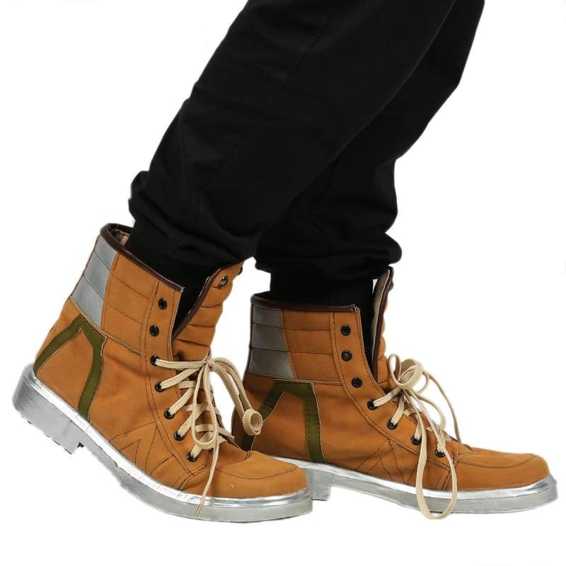 xcoser-de,Xcoser Watch Dogs 2 Marcus Cosplay Shoes Lace-up Brown Cow Suede Ankle-boots Adults Size,Boots