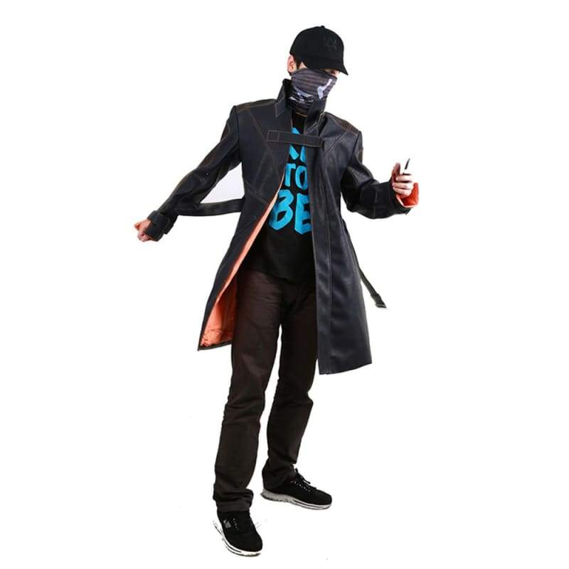xcoser-de,Xcoser Watch Dogs Aiden Pearce Blue Cosplay Costume,Costumes