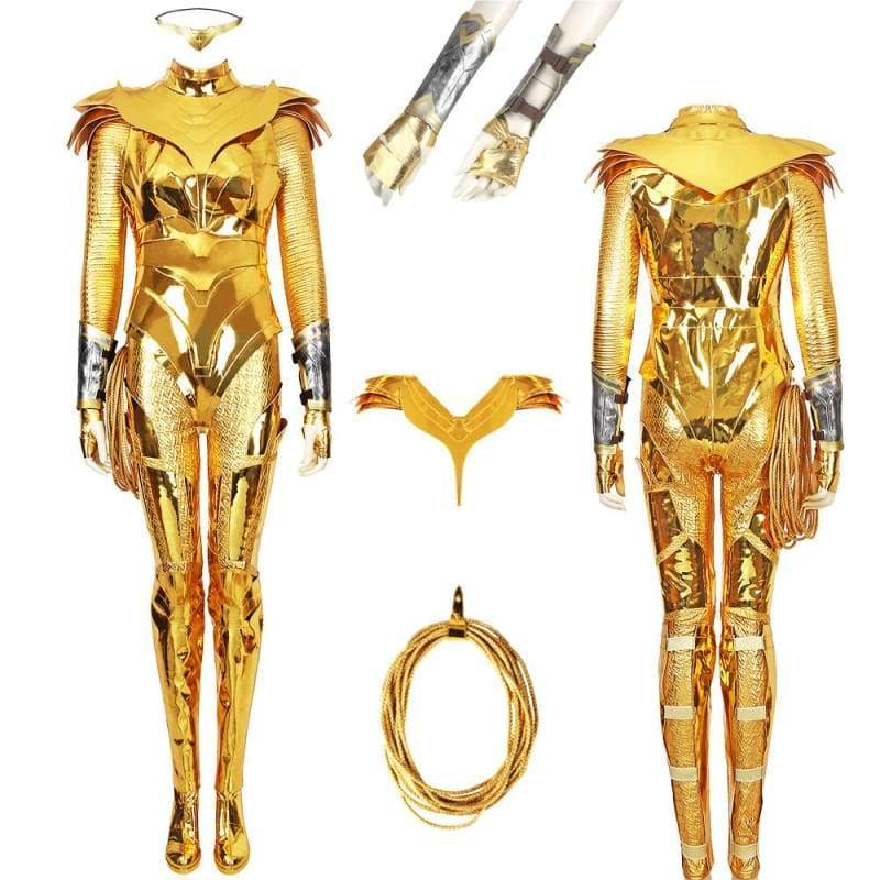 Xcoser wonder Woman 1984 / 2 Diana Prince Golden Eagle Battlegear Cosplay Costume - Costumes 3