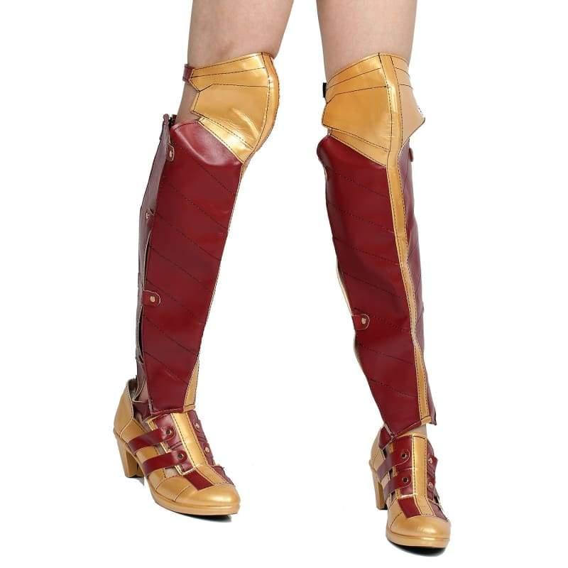 xcoser-de,Xcoser Wonder Woman PU Leather Boots Cosplay Boots New Version Sale,Boots