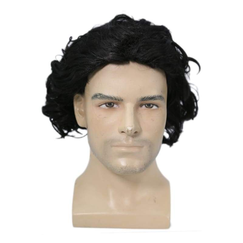 xcoser-de,Xocser Game of Thrones 6 Jon Snow Wig Short Black Curly Wig for Cosplay Halloween Party,Wigs