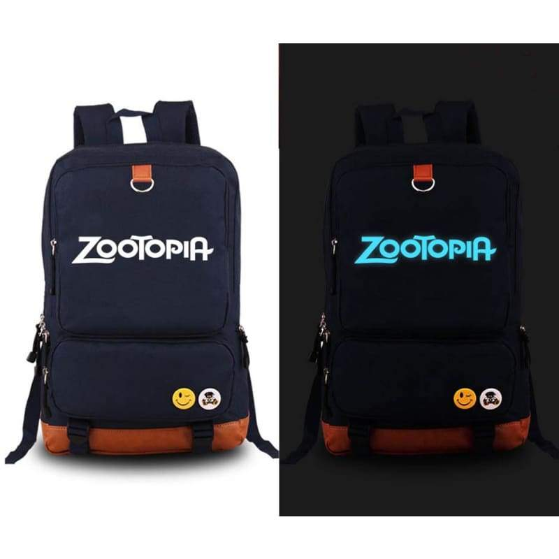 xcoser-de,Zootopia Bag Anime Glowing Logo Canvas School Travel Laptop Backpack,Others