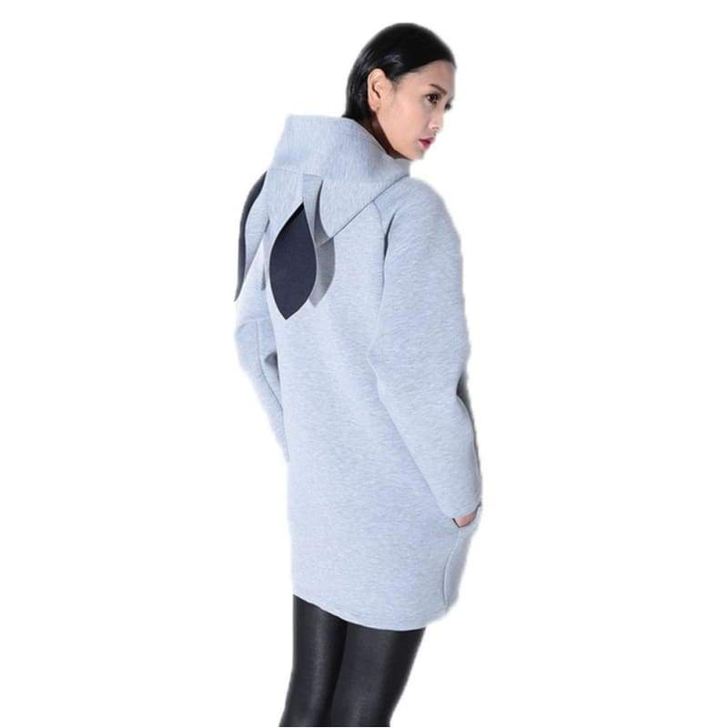 xcoser-de,Zootopia Cosplay Costume Spring Creative Rabbit Ears Hooded Long Sweatshirts for Adults,Costumes
