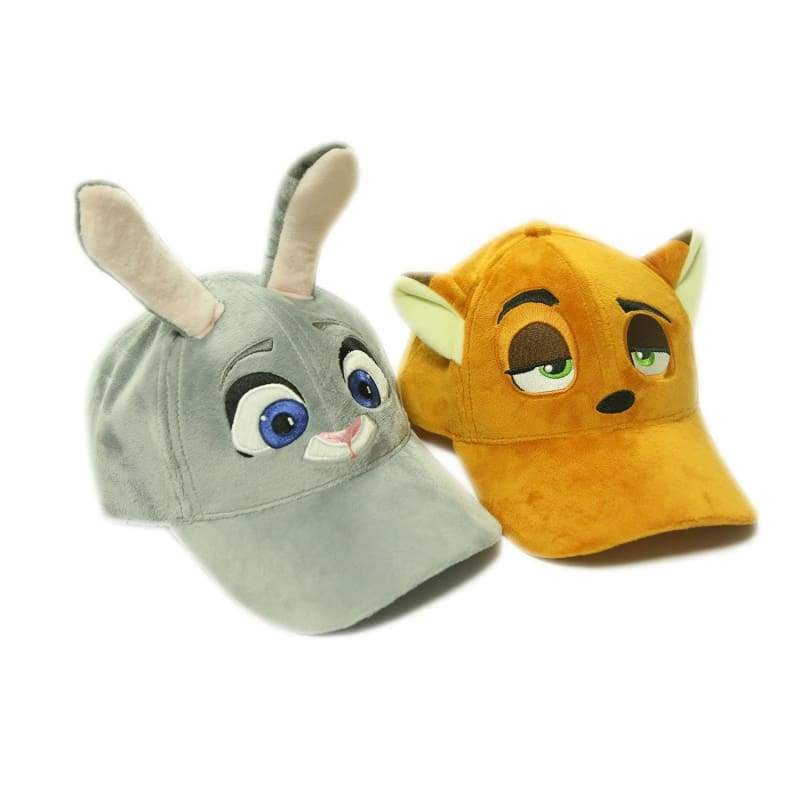 xcoser-de,Zootopia Judy Hat with Plush Cute Ears Adults Cap Cosplay Costume Accessories,Hats