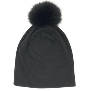 Classic Ribbed Beanie with a Pom Pom