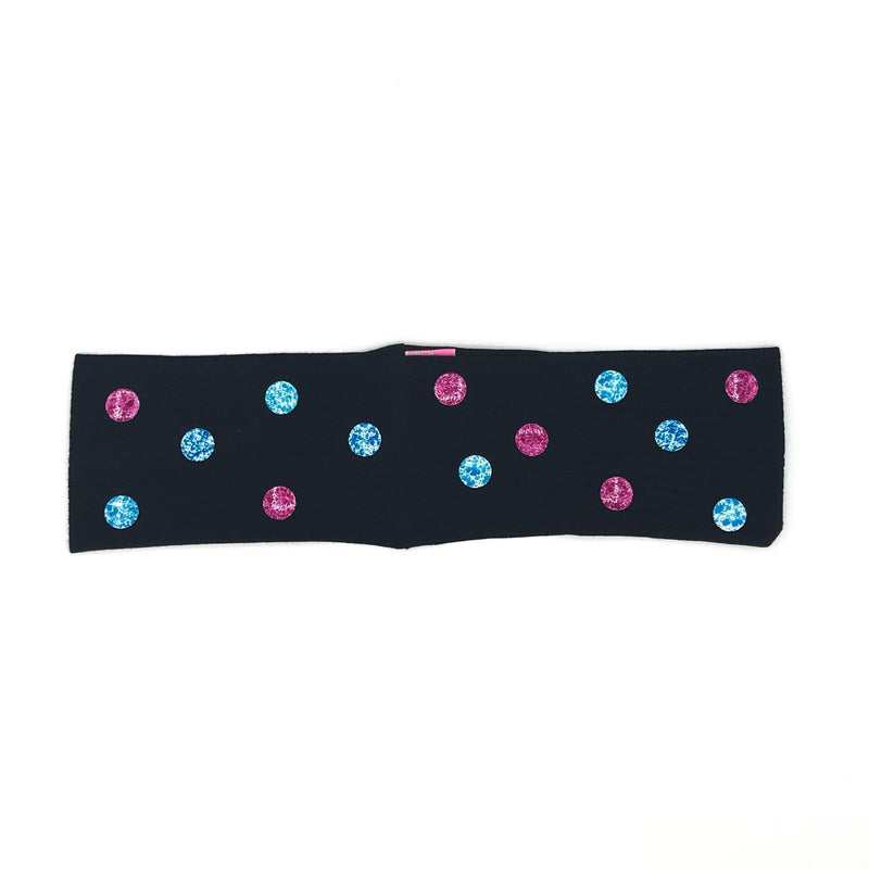 Thin Ribbed Blue and Purple Stud Headband