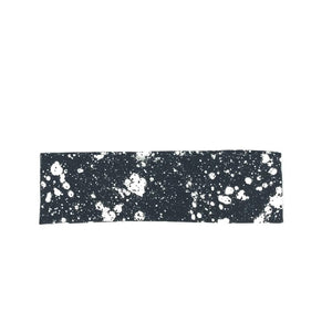 Thin Black and White Splatter Paint Headband