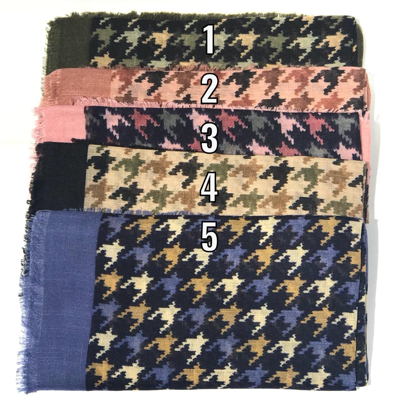 Houndstooth Scarves (thicker material)