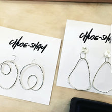 Chloe Shay Sterling Silver Stud Loop Earings