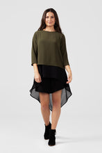 Khaki Shift Top