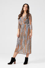 Feather Long Wrap Dress