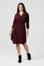Burgundy Wrap Dress