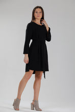 Crepe Slit Sleeve Dress