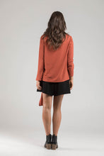 Burnt Orange Crop Knit Jumper