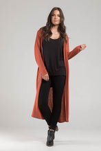 Grey Marle Wool Long Line Cardi