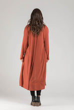 Burnt Orange Long Line Cardi