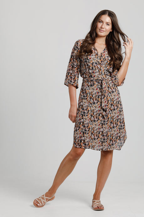 Flower Fields Wrap Dress