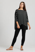Black & White Stripe Jersey Poncho
