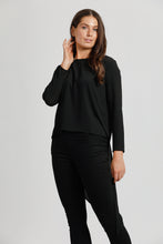 Black Crepe Triangle Top